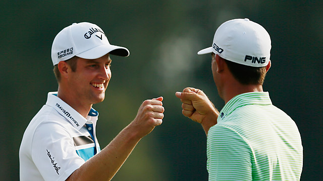 Chris Kirk, left, and Billy Horschel shot matching 66s on day one.