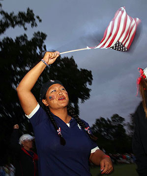 Christina Kim helped the U.S. team win the Solheim Cup in 2009.