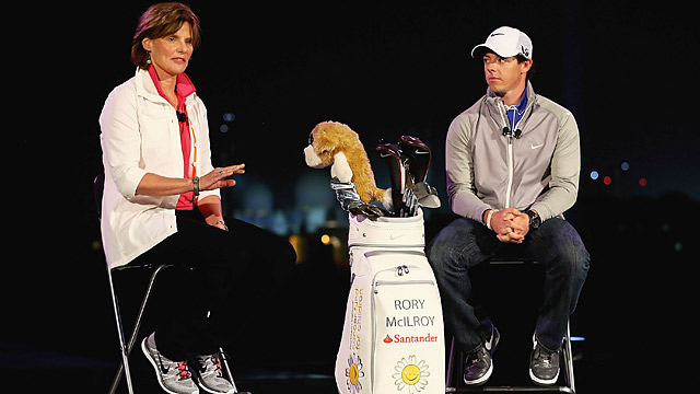 Cindy Davis (right) was on hand to welcome Rory McIlroy as a Nike brand ambassador in January 2013.