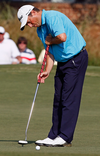 Tim Clark has been using an anchored putting stroke for 15 years.