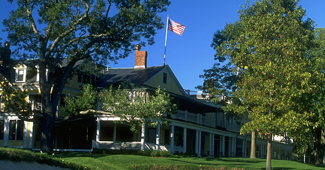 The clubhouse at The Country Club in Brookline, Mass.