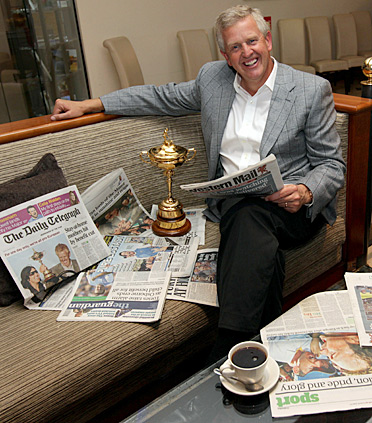 """Colin Montgomerie called the Europeans' triumph at Celtic Manor, """"the greatest moment of my golfing career."""""""