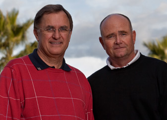 Brian Curley, right, with design partner Lee Schmidt.