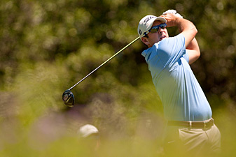 Ben Curtis made four birdies, two double bogeys and a bogey.
