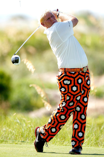 John Daly made an eagle, four birdies and two bogeys.