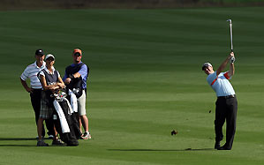 Larry and Josh Nelson, right, shot a 12-under 60.