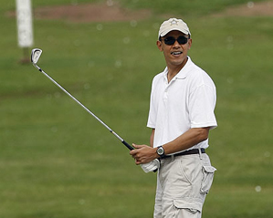 Obama played a round of golf while in Hawaii to celebrate the holidays.