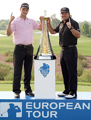 Kaymer (left) and McDowell (right) received the European Tour's Golfer of the Year award in part for their victories at the PGA Championship and U.S. Open, respectively.
