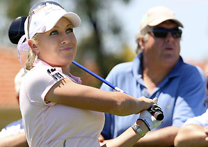 Natalie Gulbis lost her match 3 and 2.
