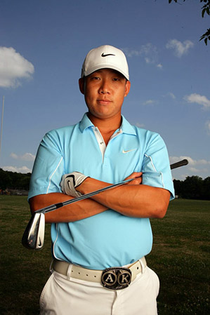 Anthony Kim is known for his flashy belts.