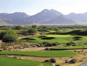 The par-3 16th at TPC Scottsdale gets rowdy when the Tour comes to town.