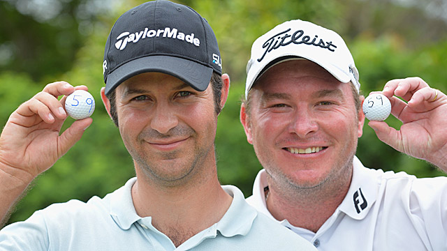 Jorge Campillo of Spain and Colin Nel of South Africa both reached what is seen as golf's magic number