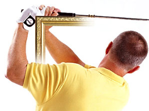 Frame your finish like a picture frame to manuver the ball.