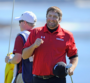 Steve Marino made seven birdies and one bogey on Friday at Pebble Beach.