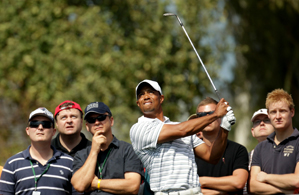 Tiger Woods is one shot off the lead heading into the final round.
