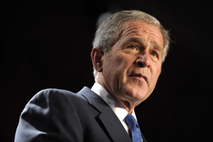 Former President George W. Bush is succeeding his father as honorary chairman of the First Tee.