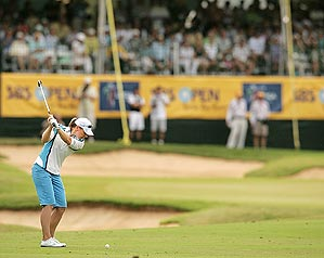 Sorenstam led in greens hit to win her                 first LPGA event since '06.
