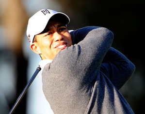 Tiger Woods was seen hitting golf balls on Thursday.