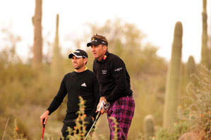 Ian Poulter, right, beat Sergio Garcia, 7 and 6.