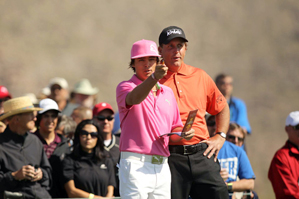 Rickie Fowler, left, beat Phil Mickelson, 6 and 5.