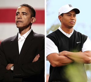 Like Woods,                 Obama seems to largely                 transcend racial issues.