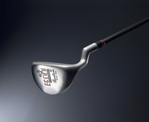 The E-Club is three clubs in one: putter, sand wedge and fairway wood.