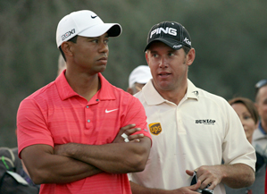 Lee Westwood, right, has replaced Tiger Woods as the No. 1 golfer in the world.