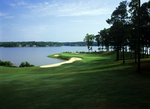 The par-4 11th on the Great Waters course.