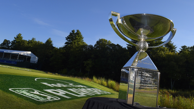 The winner of the FedEx Cup will receive this trophy and a $10 million paycheck.