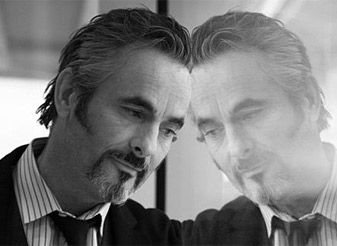 """Feherty during a 2012 trip to Vegas. """"It takes a village behind David to keep him going,"""" his wife says."""
