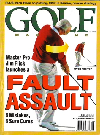 Jim Flick on the January 1998 cover of Golf Magazine.
