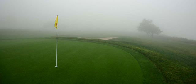 Fog kept players off the course Saturday at Torrey Pines.
