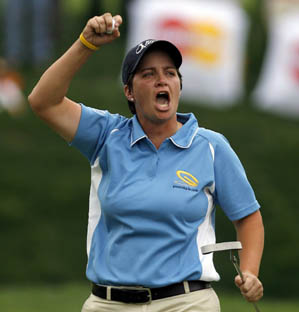 <strong>Working Girl:</strong> Growing up, Francella, who beat Annika Sorenstam in a playoff two weeks ago, had a job in a pro shop.