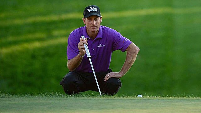 Jim Furyk's third-round 68 was good enough for a one-shot lead.