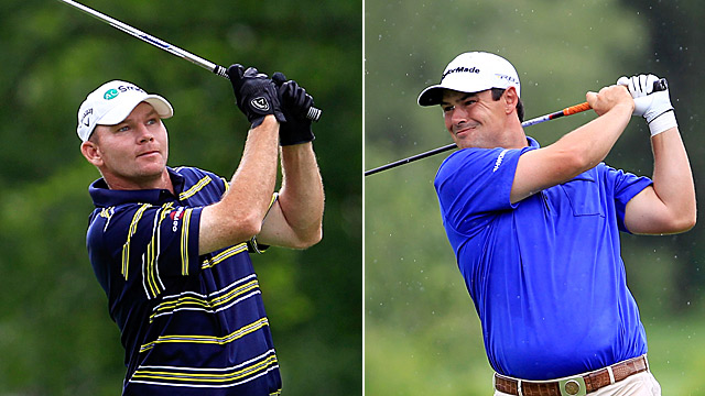 Tommy Gainey (left) and Johnson Wagner each fired 62 in the first round.