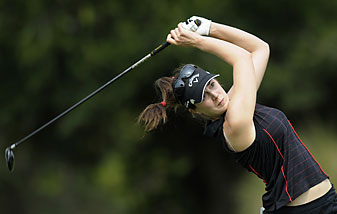 Sandra Gal shot a 71 to grab a share of the lead.