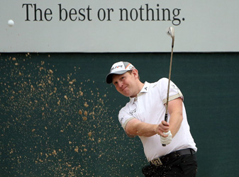 Stephen Gallacher eagled both par 5s on the back nine on his way to a 62.