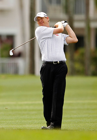 Tom Gillis shot a second-round 64 to take the clubhouse lead.