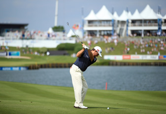 Graeme McDowell made two birdies and a bogey on Saturday.
