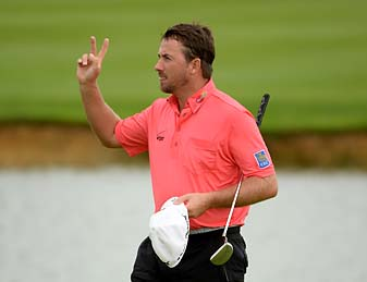 Graeme McDowell started the day eight shots behind Kevin Stadler but shot 67 to win his second consecutive French Open.