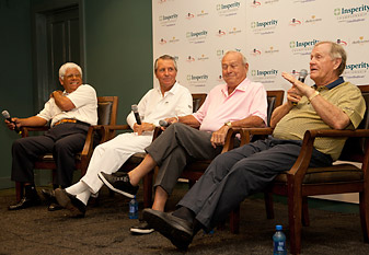 NIcklaus, Palmer, Trevino and Player differ on Tiger's future.