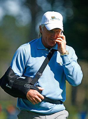 Greg Norman is recovering from a recent shoulder surgery.