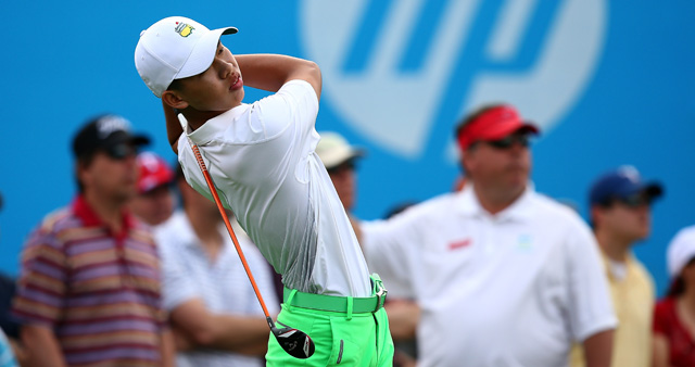 Guan Tianlang shot a seven-over 77 on Friday.