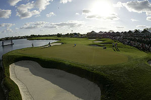 The 18th at the Champion Course at PGA National Resort & Spa.