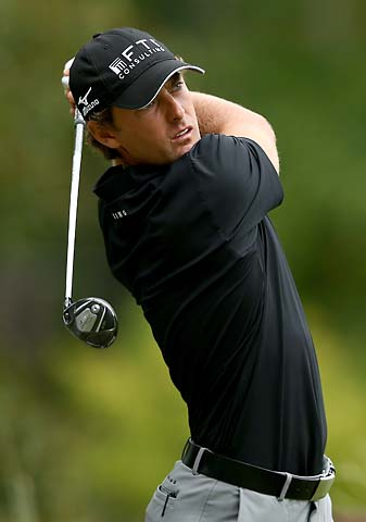 Charles Howell III hits his tee shot on the 12th hole Friday at the Wyndham Championship.