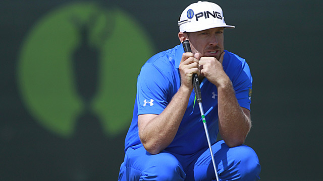 Hunter Mahan shot a 68 Saturday to tie Tiger Woods for second place.