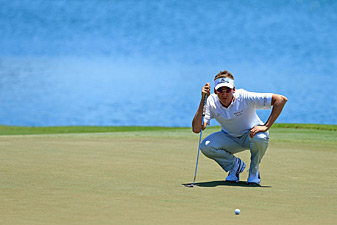 Ian Poulter made eight birdies and one bogey.