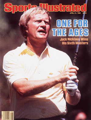 Jack Nicklaus shot 30 on the back nine on Sunday to win the 1986 Masters.