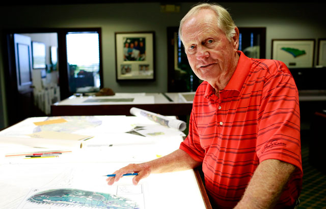 Jack Nicklaus at Nicklaus Companies HQ in North Palm Beach, Florida.