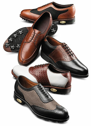 Allen Edmonds Honors Collection, a line of golf shoes featuring many classic touches.
